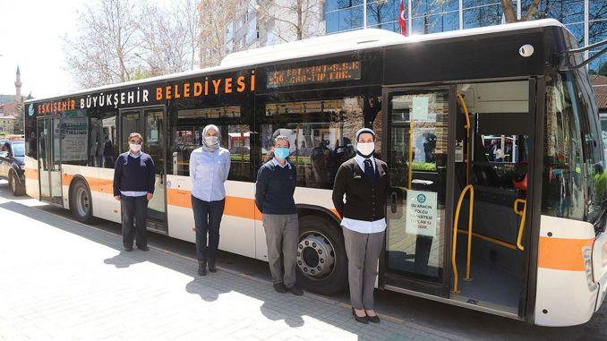 Eskisehirs erste Busfahrerin teilte ihre Erfahrungen mit