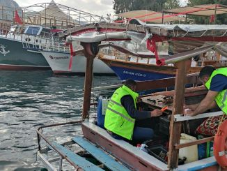 Tracking system installed on cruise boats in halfeti district