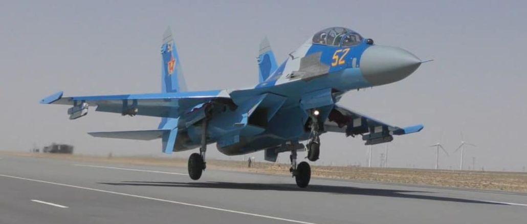 krita ūdens sm kara kara lidmašīna, kas pieder Kazahstānas gaisa spēkiem