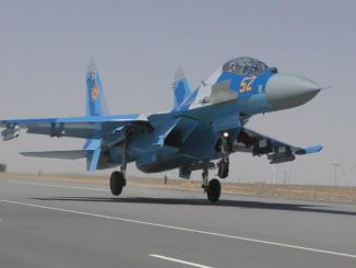 water sm war plane belonging to kazakhstan air force fell