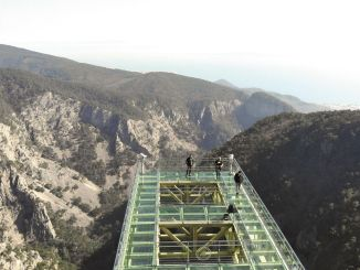 glass observation terrace to the canyon of the Kazdaglar's altitude sahinderesi