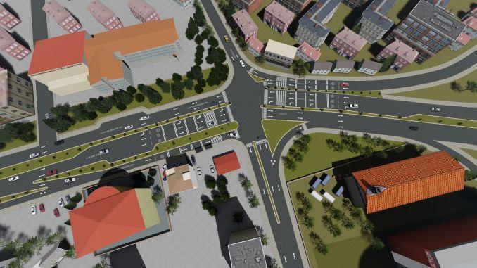 caravan roundabout improvement project begins