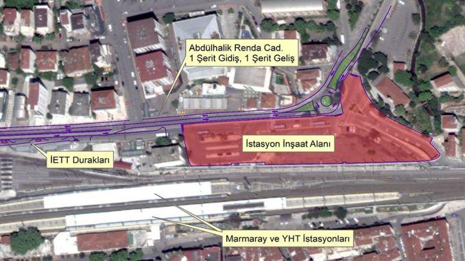 Einige Straßen sind für den Verkehr mit Pendik-U-Bahnen gesperrt