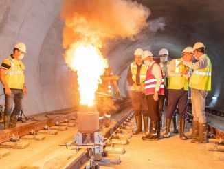 First rail welding on sabiha gokcen airport metro line will be made tomorrow