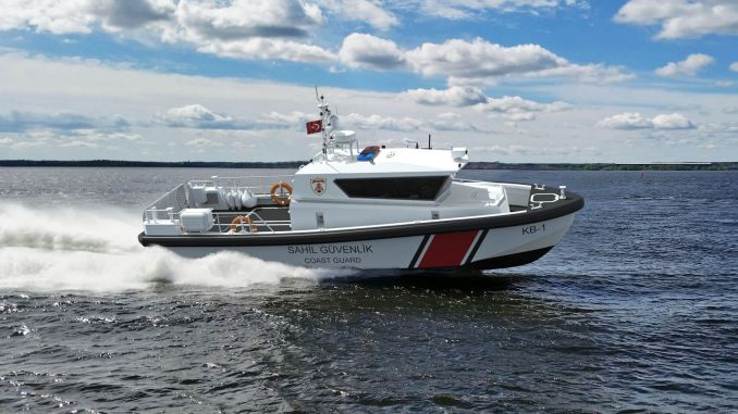 The fast patrol boat built for coastline security was launched