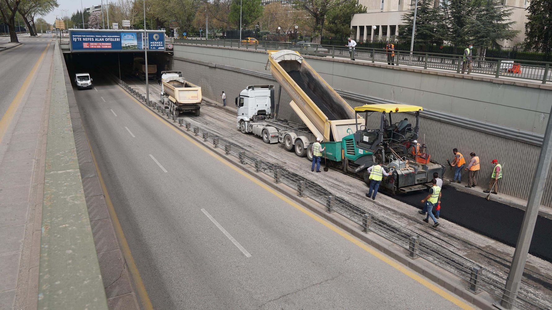 Asphalt Campaign in Complete Closure from Ankara Metropolitan