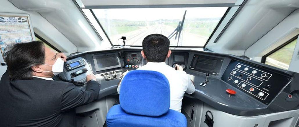 ankara sivas yht testna vožnja, vlak je dosegel km h