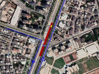 شارع دوملوبينار أنطاليا الشرقي ، وإلا سيتم إغلاق حركة المرور