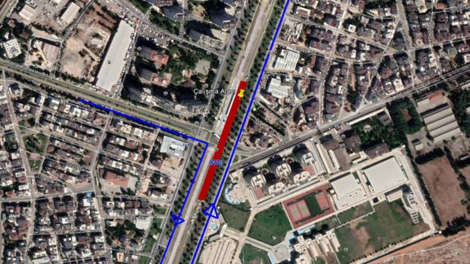 Antalya dumlupinar boulevard east otherwise will be closed to traffic