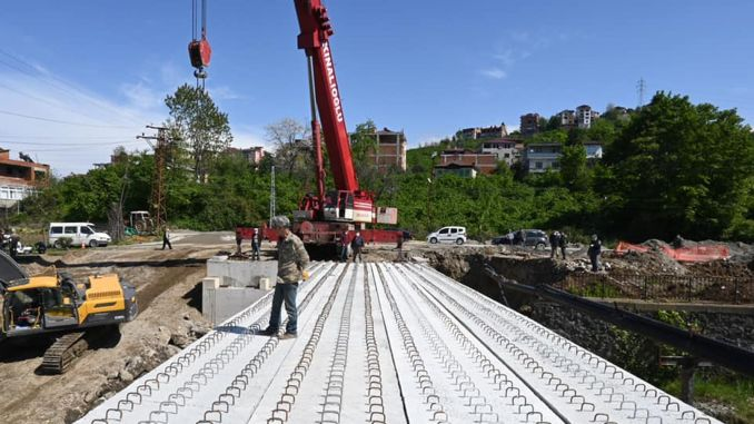 Arakli industrial bridge has come to an end