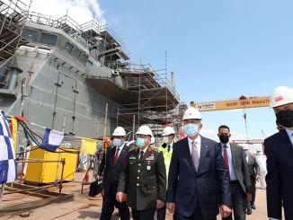 minister akar tcg made observations on the anatolian ship