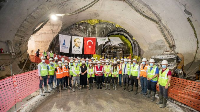 President Soyer Narlidere feasted with the staff working on the subway line