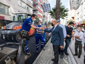Soyer elnök megvizsgálta a Talatpasa Boulevard Aszfaltműveket