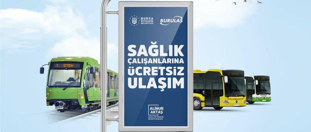 Transporte público gratuito para profesionales de la salud en Bursa extendido hasta junio