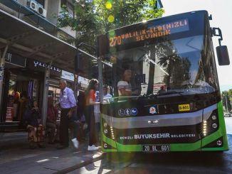 Buyuksehirバスはイードの休日の間は機能しません