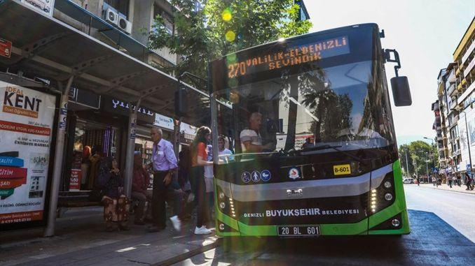 The bus line of Denizli Büyüksehirin will work for Ales Exam