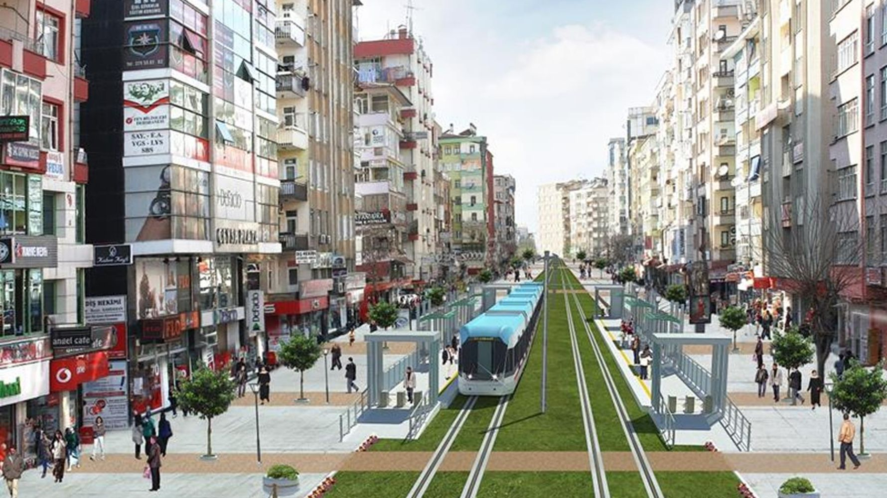Diyarbakir signed the contract for the light rail system project