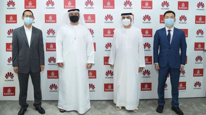 emirates signs strategic agreement with huawei