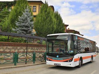 Public transport announcement for Eskisehir citizens for ales exam