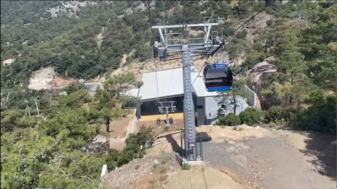 Fethiye's annual dream, Babadag cable car line has started.