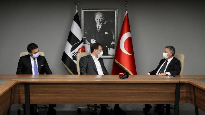 Championship visit from imamoglu and akpolat to besiktas club