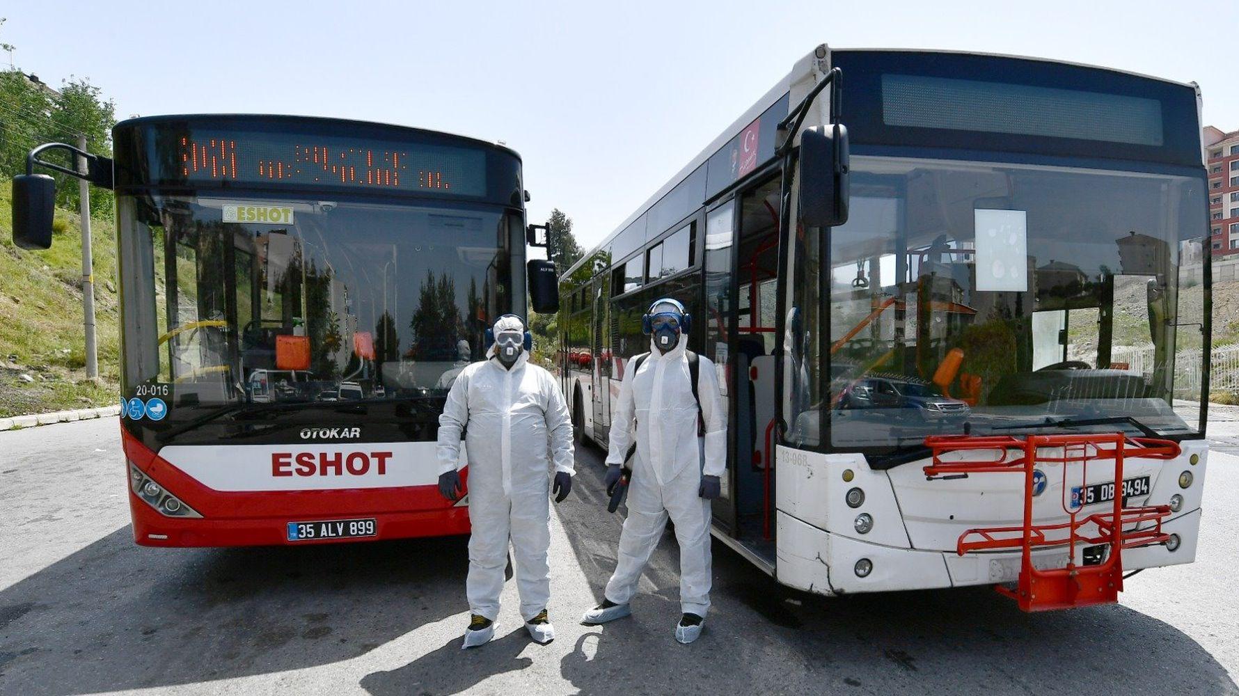 Izmir bus taxi and minibus virus shield