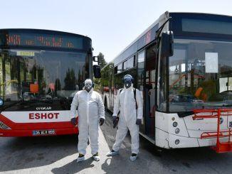 Izmir Bustaxi und Minibus-Virusschild