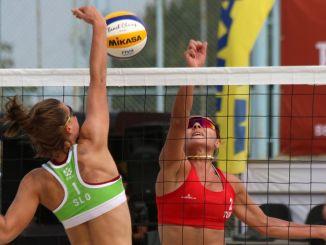 Beim Beachvolleyball in Izmir freuten wir uns für Männer, wir waren traurig über Frauen