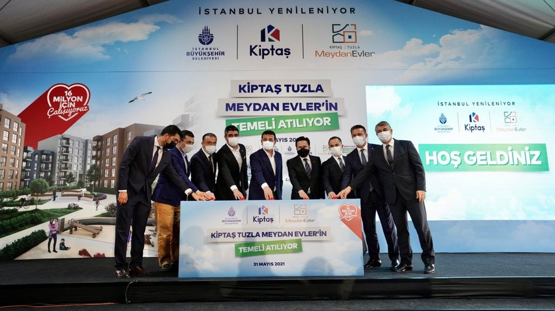 The foundations of the square houses were laid with kiptas salt