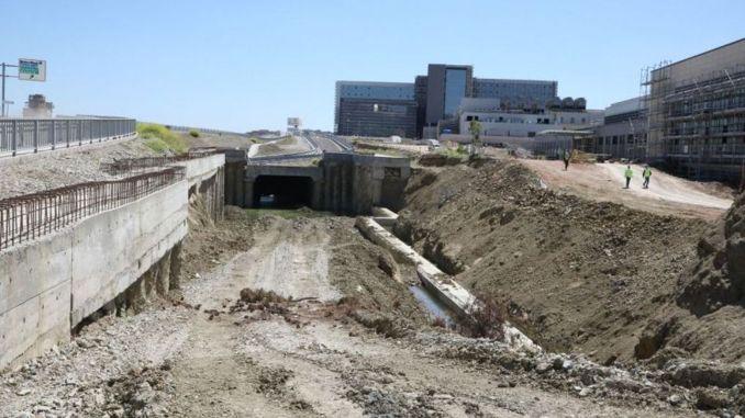 Construction works stopped on the Kocaeli City Hospital tram line