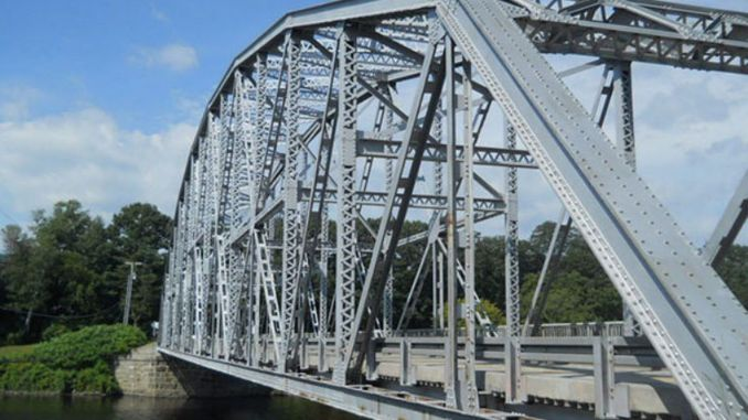 橋の鉄骨構造