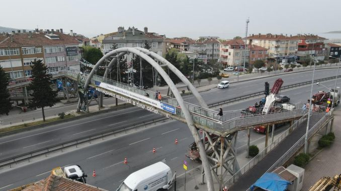Tuyap overpass, which completed its usage life, has been removed