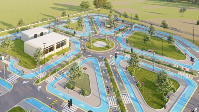 The work of the mardin children traffic education park started