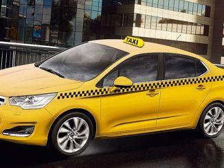 แท็กซี่เชิงพาณิชย์เปลี่ยนเป็นสีเหลืองมะนาวในเมอร์ซิน