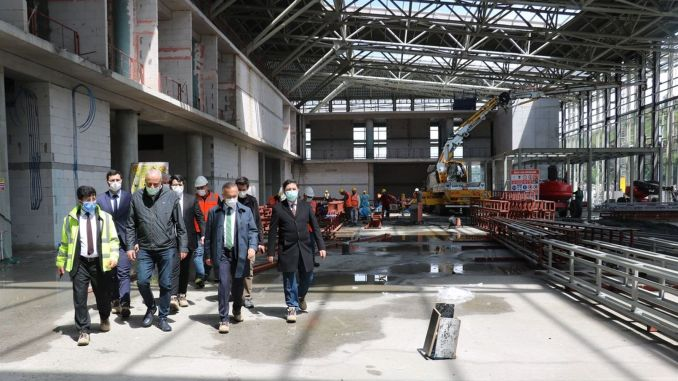 percent of rize artvin airport infrastructure work done