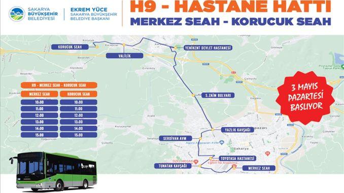 new line to hospital transportation in Sakarya