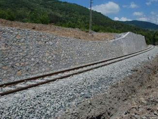 A trapezoidal concrete channel will be built on the Ankara Kayseri railway line.