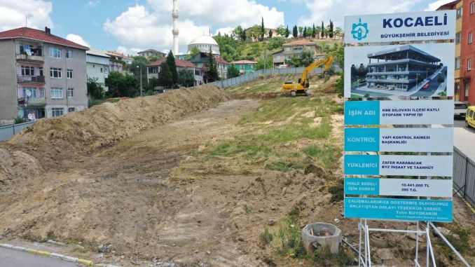 The first digging was struck in the dilovasi multi-storey car park project