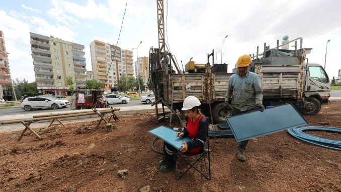 Ground survey work has started in the Diyarbakir tram project
