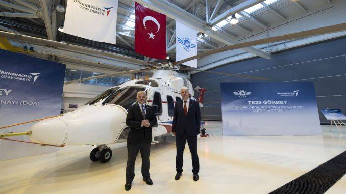 Gokbey helicopter received design organization approval certificate