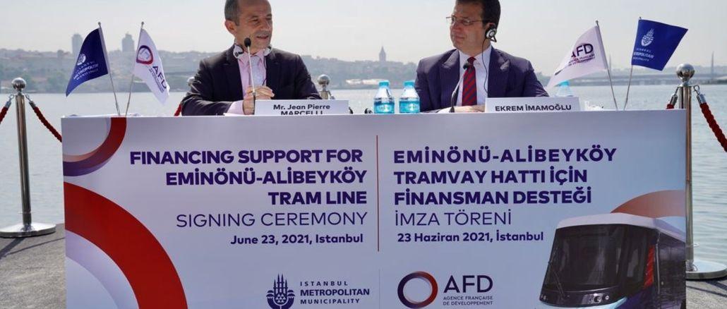 ibb eminonu will receive million euro financing support for alibeykoy tram line