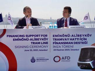 سيحصل ibb eminonu على دعم تمويلي بقيمة مليون يورو لخط ترام Alibeykoy