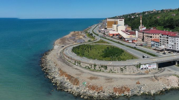Sea filling started for Iyidere logistics center