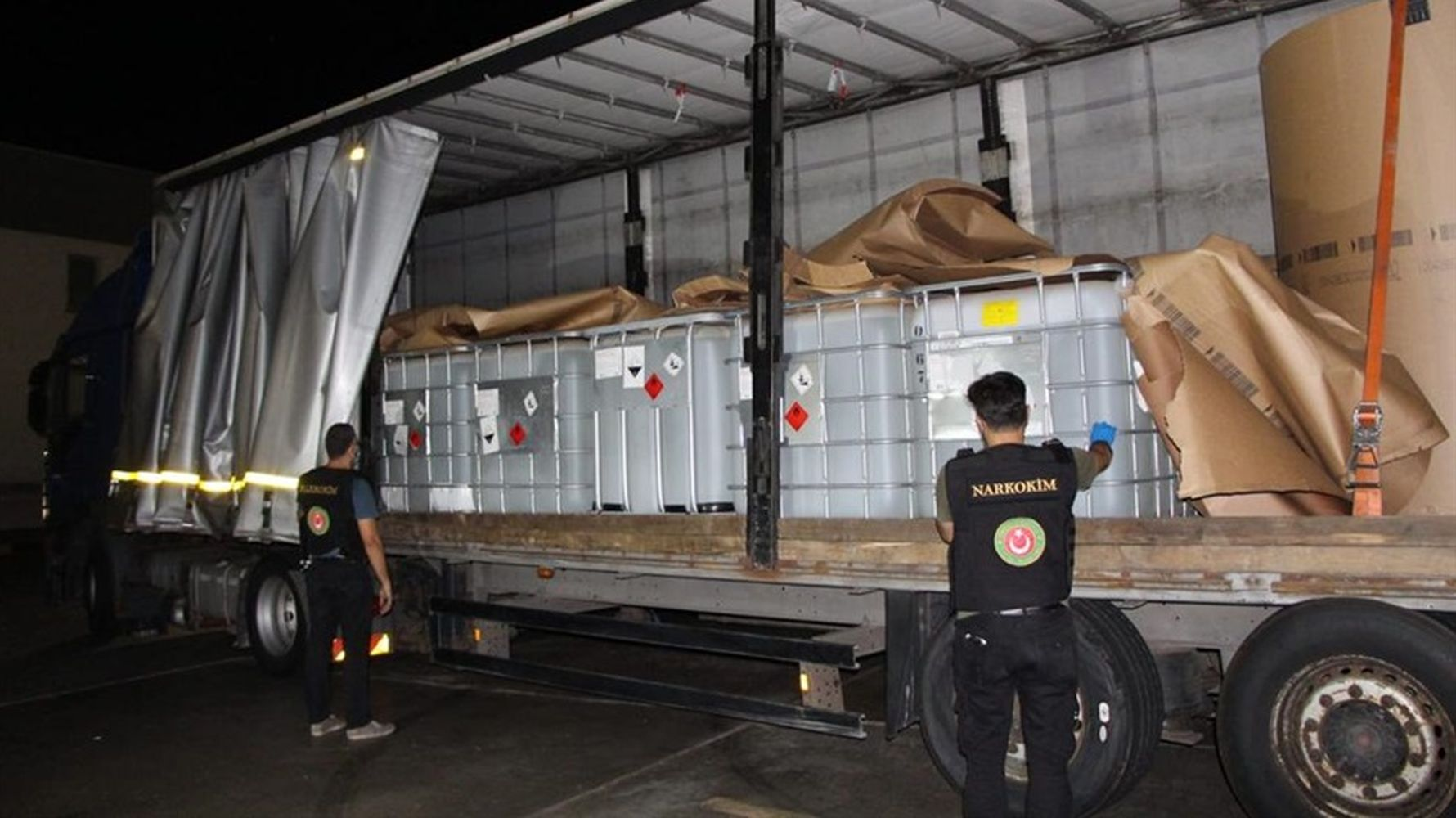 tons of drug raw materials were seized in Kapikule