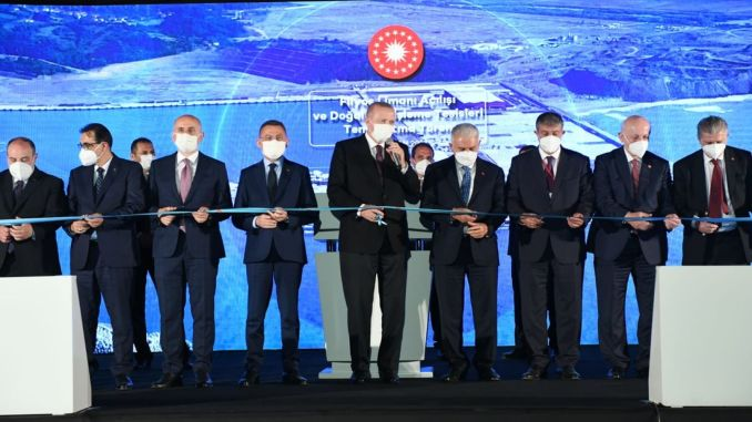 Filyos Port, the new logistics base of the Black Sea, was put into service
