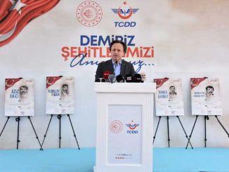 Jernbanemedarbejdere, der blev martyrdød i Malatya Demiriz Station, blev fejret