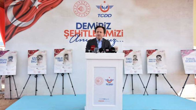 Railway employees who were martyred in Malatya Demiriz Station were commemorated