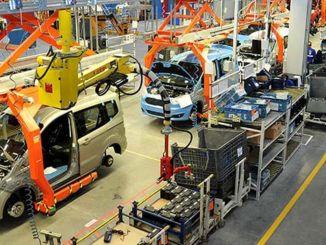 automobilių gamybos procentų eksportas padidėjo procentais