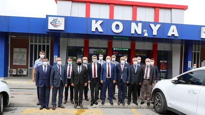 pezuk konya karaman examined the work on the high-speed railway line