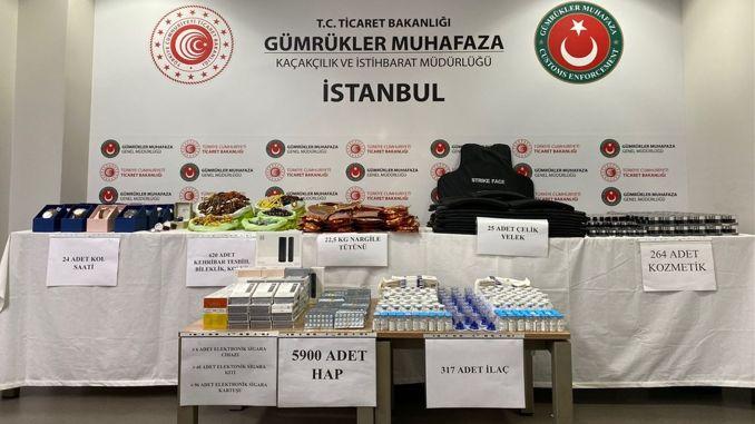 Krijumčareni proizvod vrijedan milijun TL zaplijenjen je u zračnoj luci Sabiha Gökçen